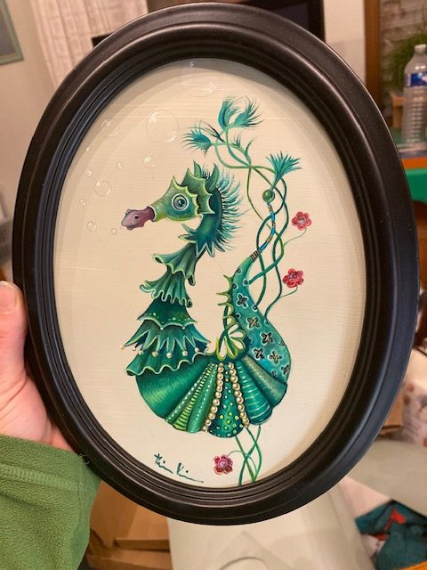 Day 349 Seahorse With Rose